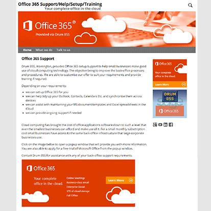 Website Portfolio - Office 365 Support