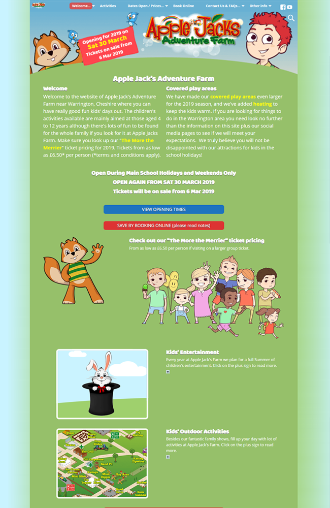 Website Portfolio - Apple Jacks - 650 x 1000