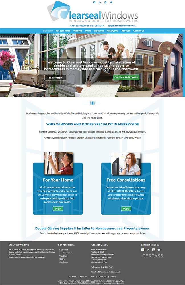 Website Portfolio - Clearseal Windows - 650 x 1000