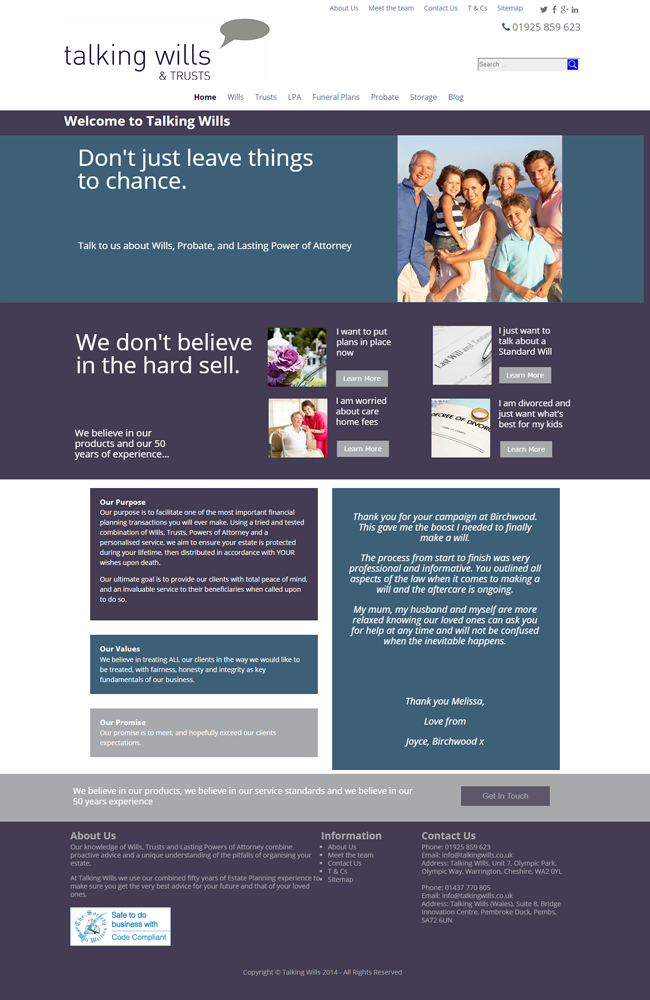 Website Portfolio - Talking Wills - 650 x 1000