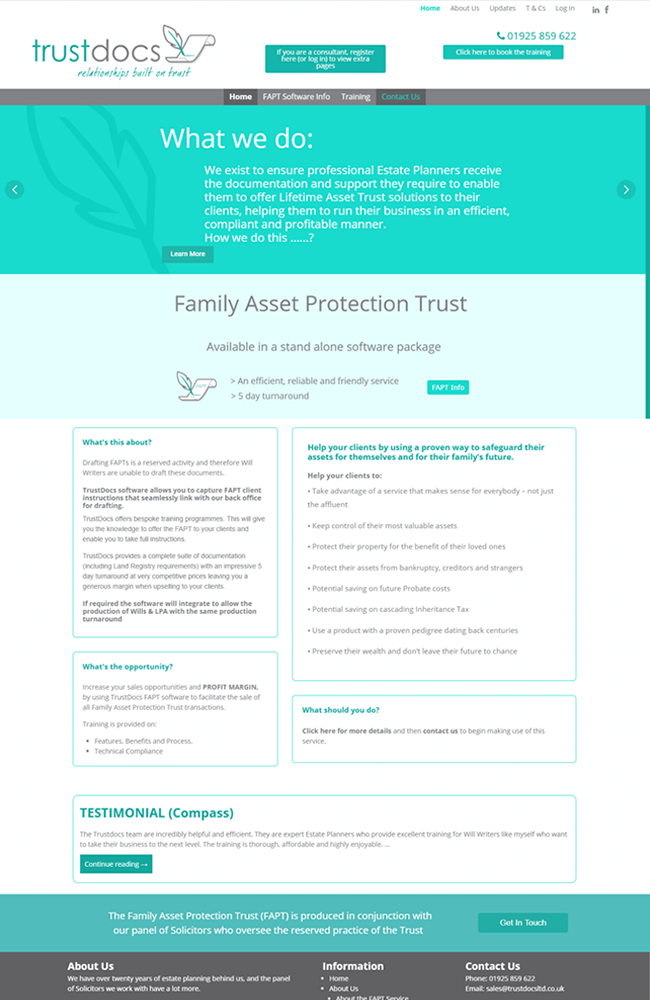 Website Portfolio - TrustDocs - 650 x 1000